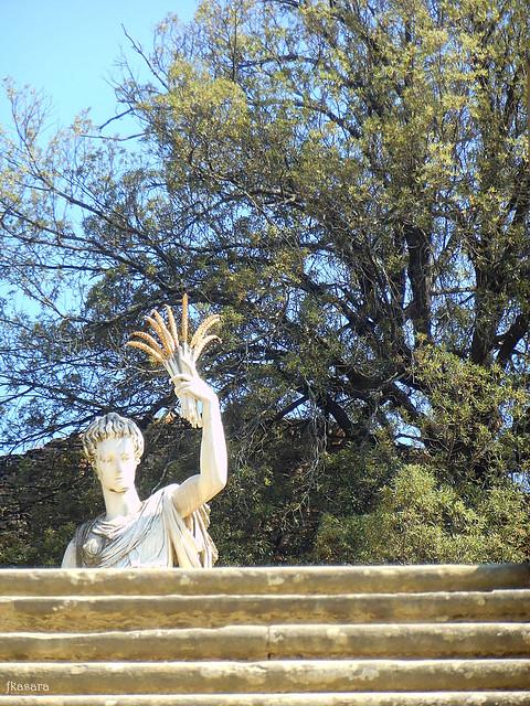 Statue and stairs, Boboli Gardens