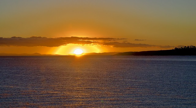 Sunrise on lake Titicaca