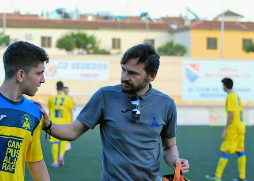 Mario Roldán, entrenador del equipo senior de La Motilla