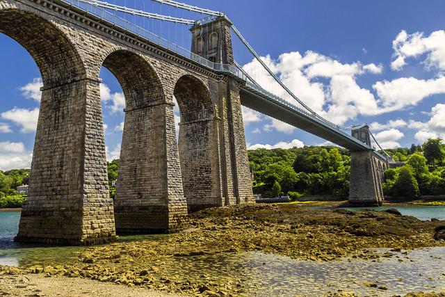 Menai Bridge, Canon EOS REBEL T3I, Sigma 18-200mm f/3.5-6.3 DC OS