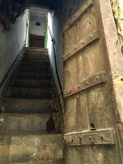 The aged door. Door Woodendoor Wood - Material Old Buildings Architecture Staircase Steps And Staircases Steps Building Exterior No People Stairway Stairs India Olddelhi Heritage Historic Delhi at Delhi Gate