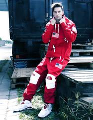 Supreme x The North Face Suit Boy Model CC Jordans Sneakers