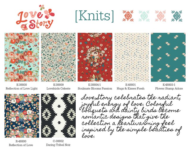 Love Story  Knits, Rayon & Canvas