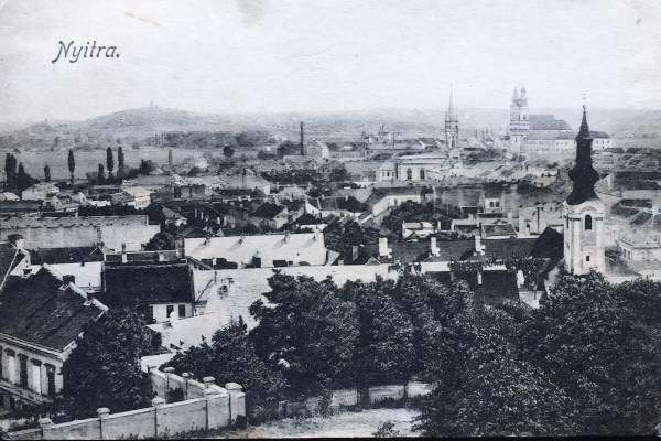 Pohľadnica Nitra - Nyitra okolo roku 1910