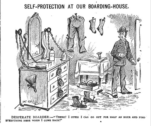 self-protection at our boarding house (1882)