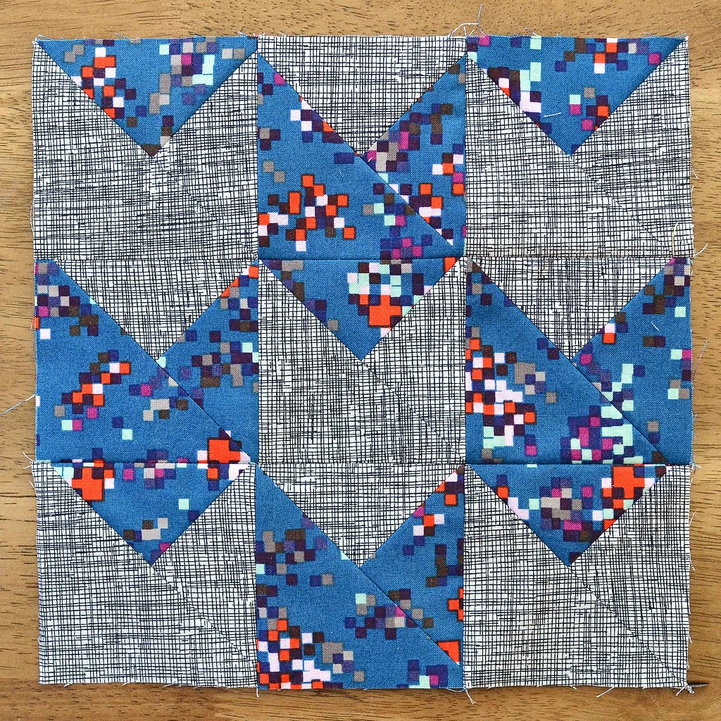 The Fussy Cut Sampler Block # 34