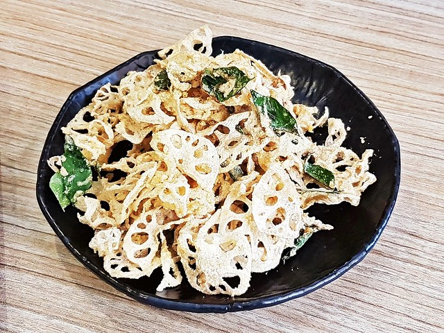 Crispy Lotus Root With Salted Egg