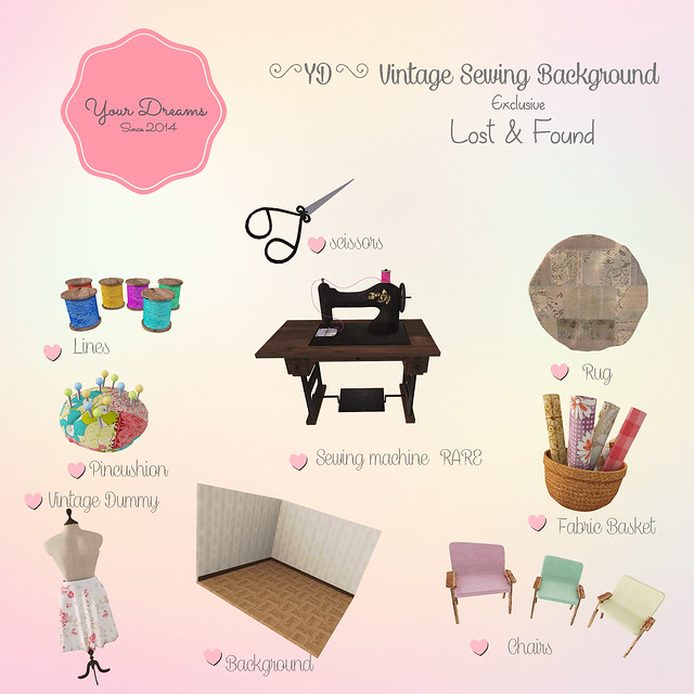 {YD}Vintage Sewing Background