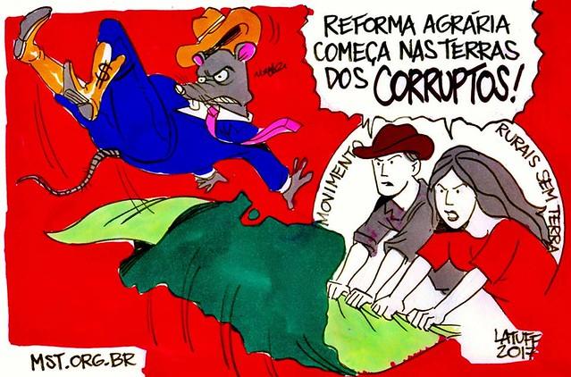 MST ocupa terras de corrupto - Créditos: Carlos Latuff