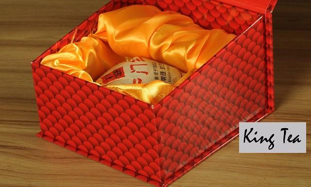 Free Shipping 2014 XiaGuan KaiMenHong Boxed Tuo Bowl 250g China YunNan Chinese Puer Puerh Raw Tea Sheng Cha Weight Loss Slim Beauty