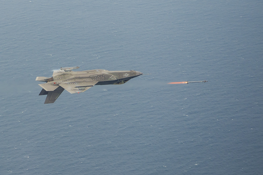 F-35C Inverted AIM-9X Live Fire