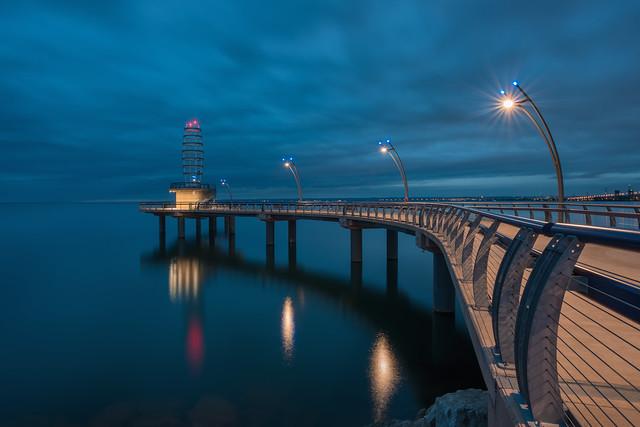 Blue Hour - Brant Street Pier, Burlington Ontario Canada