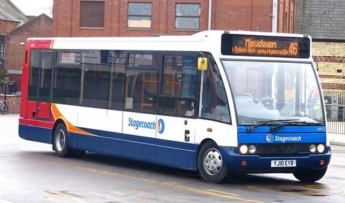 YJ10 EYB 'Stagecoach East' No. 47912 Optare Solo M950SL on 'Dennis Basford's railsroadsrunways.blogspot.co.uk