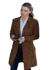 Chloe Decker Lucifer Leather Coat