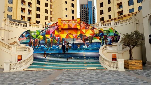 Murals on the Stairs, Dubai
