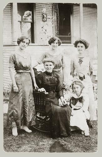 Five women rppc