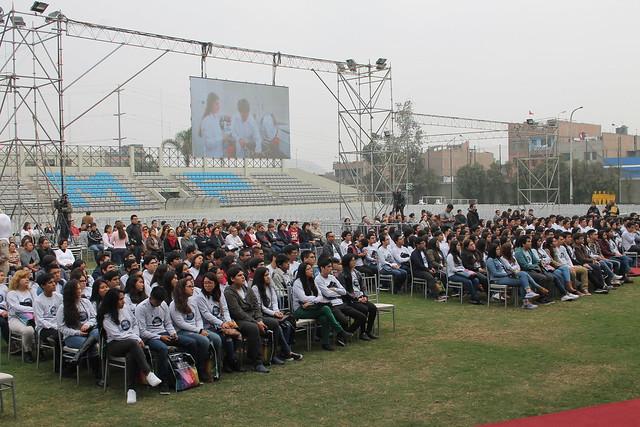 Ingresantes de la Universidad de San Martín de Porres recibieron cálida bienvenida de nuestra Casa de Estudios