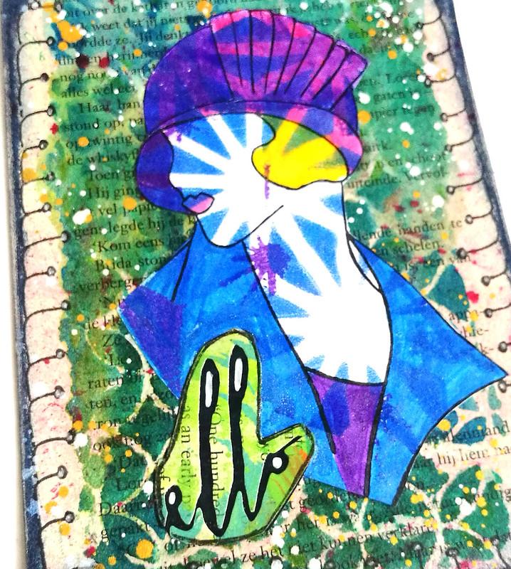 'ello - bookpage postcard Mail Art