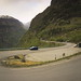 Small photo of Car on mountain pass