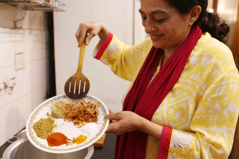 Julia Child in Delhi – Author Sadia Dehlvi Makes the Rarely Found Mango Qeema, H. Nizamuddin East