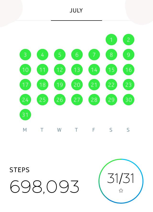 698,093 Steps
