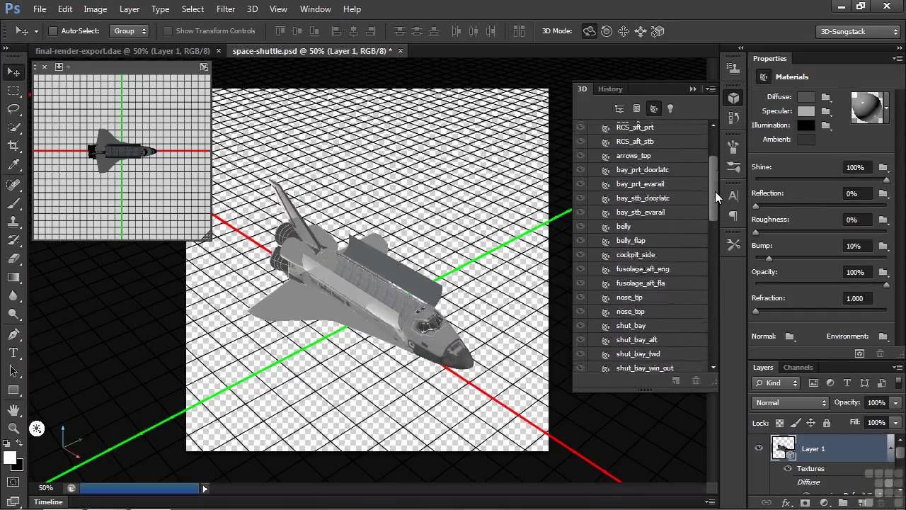64Mastering 3D in Adobe Photoshop