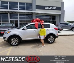 Congratulations Cristina on your #Kia #Sportage from Antonio Page at Westside Kia!
