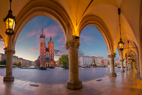 krakow poland marketsquare cathedral architecture skyline downtown building exterior city tourism landmark town chapel church twilight dawn sunrise europe historical famous square landscape tower medieval old outdoors sky travel destination street european unesco arch gothic museum urban
