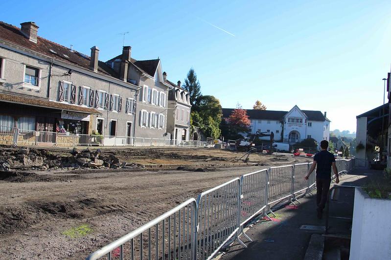 """Aménagement """"Coeur de Ville d'Orthez"""" Zone 1 - Av. de la Moutète - Oct. 2016 à Août. 2017"""