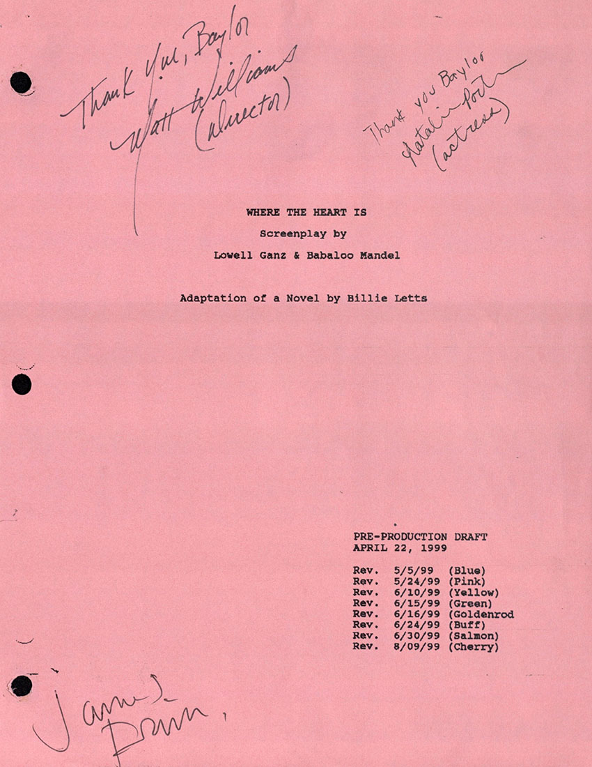 Autographed title page of play book