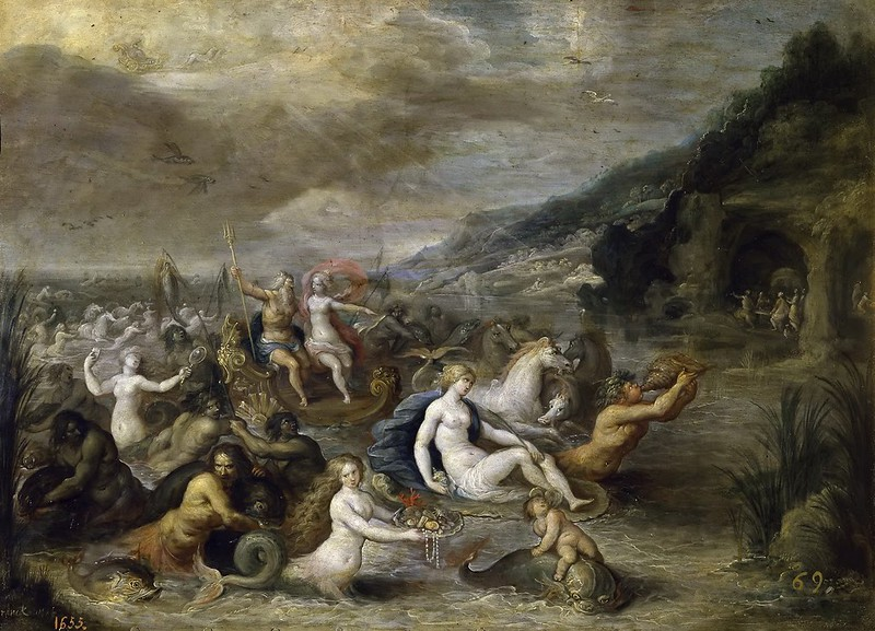 Studio of Frans Francken the Younger- The  Triumph of Neptune and Amphitrite, 1655