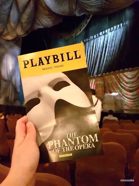 Phantom of the Opera playbill