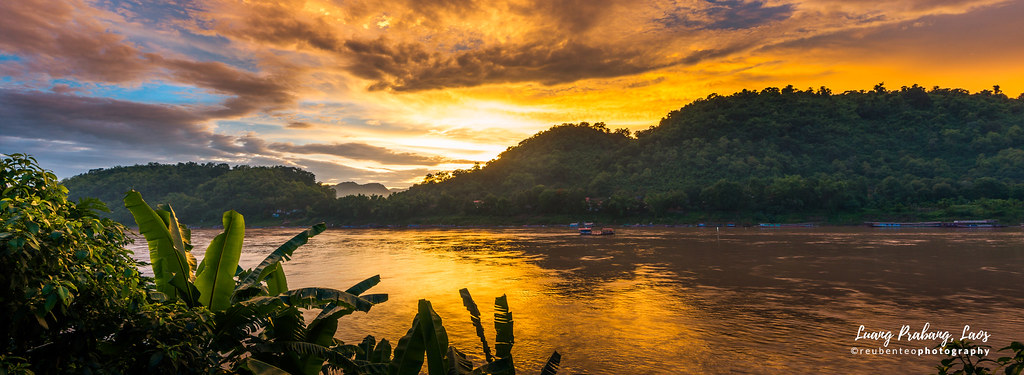 Sunset by the Mekong River, Luang Prabang