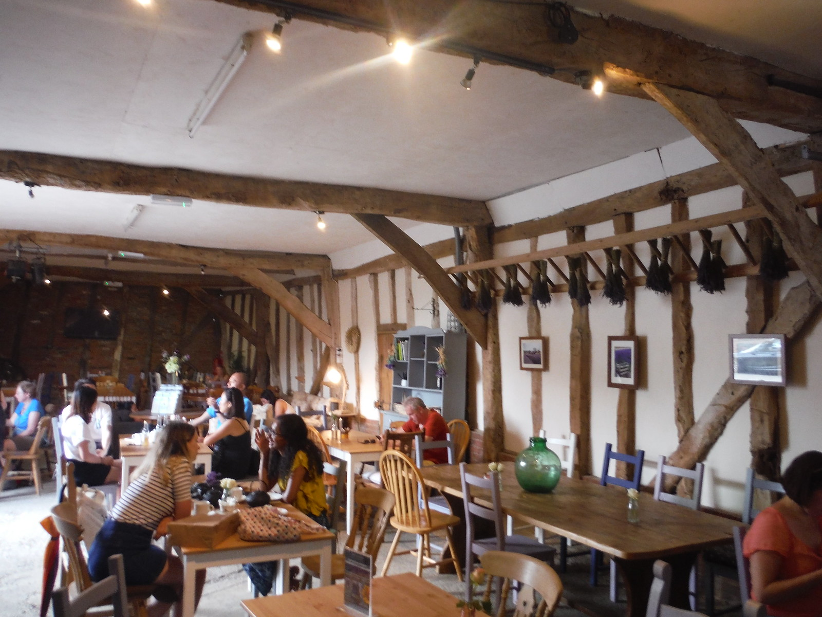 Barn Café at Hitchin Lavender (Cadwell Farm) SWC Walk 233 - Arlesey to Letchworth Garden City