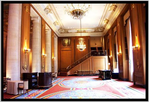 Hilton Hotel Chicago [Stevens Hotel] ~ Chicago IL ~ Normandie Lounge ~ Historic Hotel ~ Vintage Photo