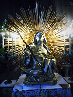 """Reliquary-bust of Saint Brigid"" - Wooden and silver-plated sculpture 19th century - Santa Brigida Church in Naples"