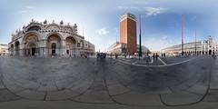 360 panorama at Piazza San Marco, Venice, Italy