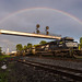 Norfolk Southern Under a Rainbow by Brandon Townley