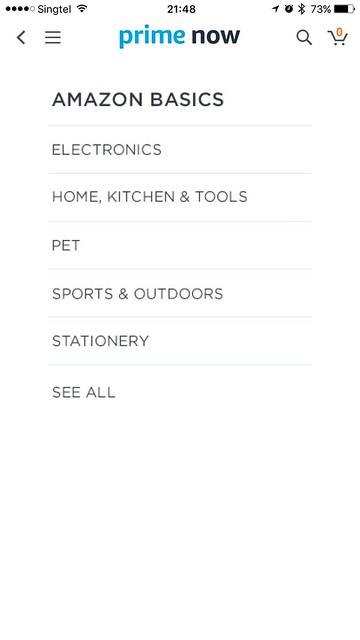 Amazon Prime Now iOS App - AmazonBasics