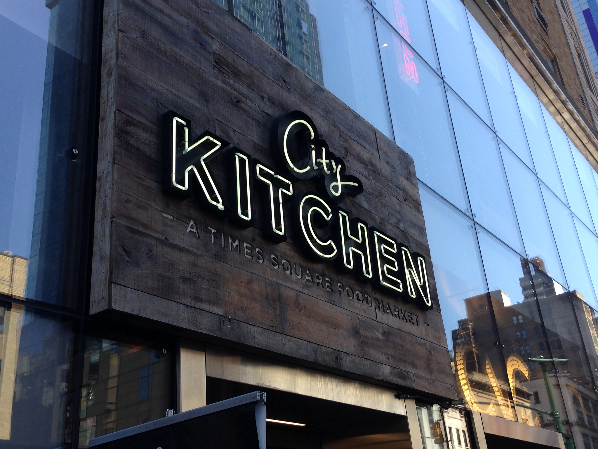 City Kitchen Times Square Food Market, NYC. Nueva York