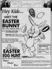 River Roads Mall spring savings newspaper ad (1989)