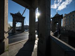 Russia. Saint Petersburg. Lomonosov Bridge.