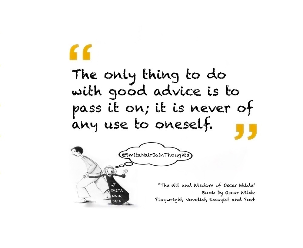 "Thought Leadership: ""The Wit and Wisdom of Oscar Wilde"" Book by Oscar Wilde #leadership   ""The only thing to do with good advice is to pass it on; it is never of any use to oneself.""  I can resist everything except temptation.  We are all in the gutter, b"