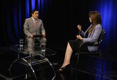 07/27/2017 - 17:26 - Quito, 26 de julio del 2017 (ANDES).- La Ministra de Salud Verónica Espinoza en diálogo con Marco Antonio Bravo, Director del Programa Ecuador No Para. ANDES/Micaela Ayala V.