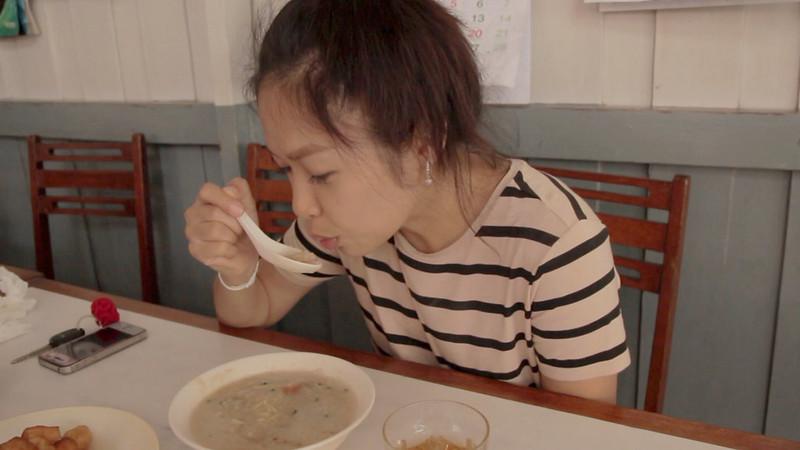 Sweet Soup • Rice Pork Porridge Congee • ข้าวต้มหมู • Songkhla • THAILAND 10