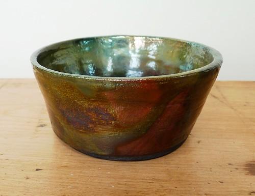 green raku bowl