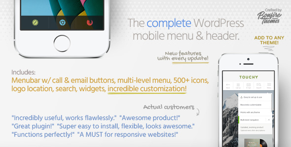 Touchy v2.7 – A WordPress mobile menu plugin
