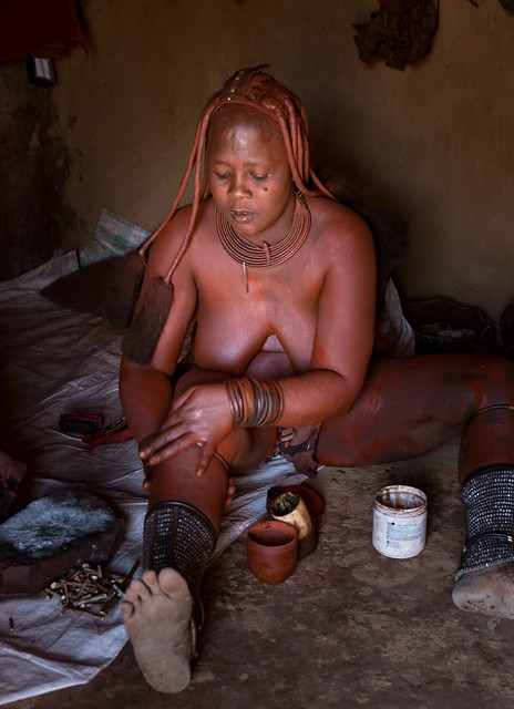 Himba Red Ocre Cream Production 2