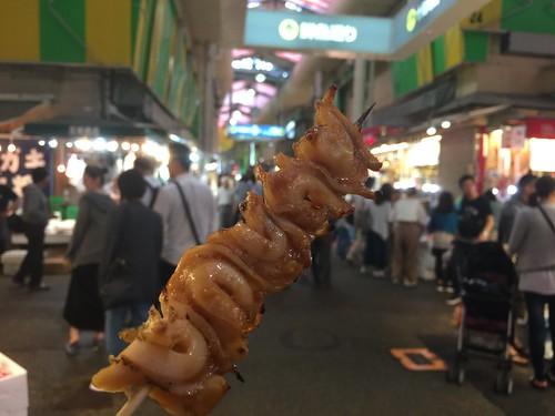 バイ貝串焼き@金沢近江町市場