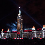 Light Show at the Parliament Hill, Ottawa, Canada